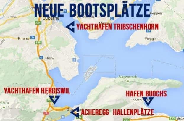 Freie Bootsplätze Schweiz Vierwaldstättersee